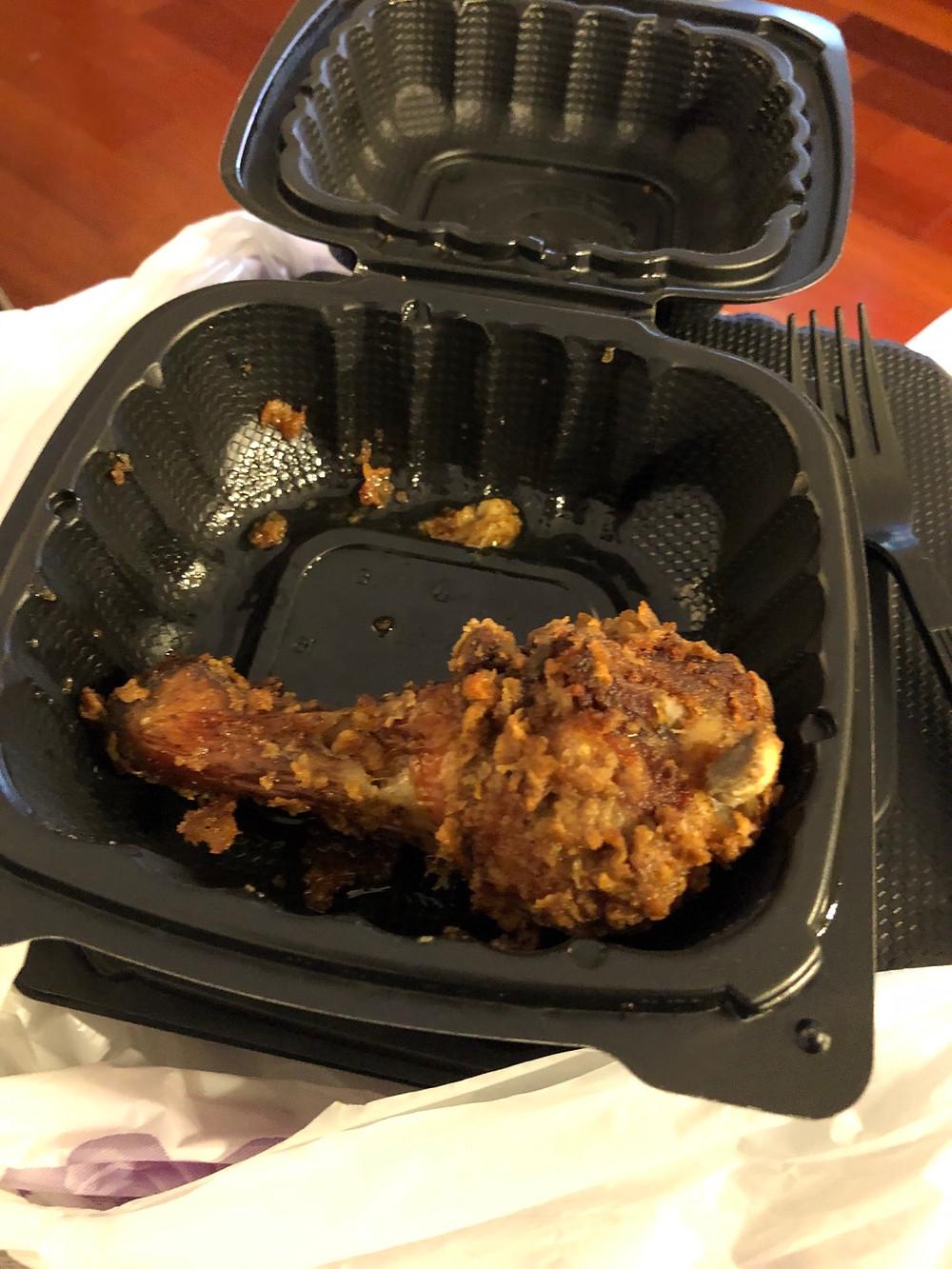 Fried Jerk Chicken from Jerk House Caribbean Restaurant Harlem