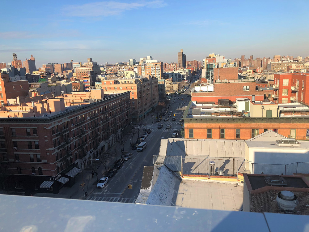 View from one of the roof deck of one of the buildings we liked