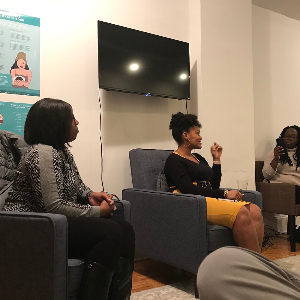 postpartum support group organized by Mater Mea and For Your Birth in Harlem
