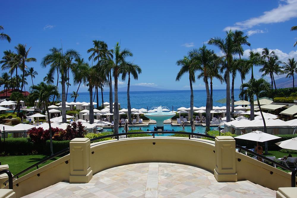 Balcony overlooking the main pool