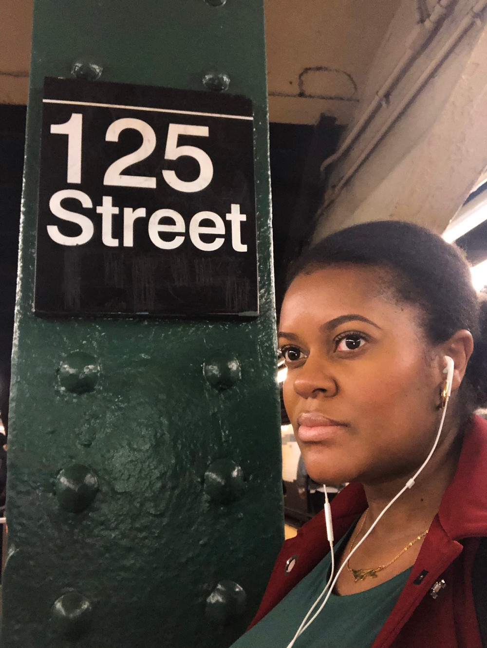 Waiting at my usual subway stop