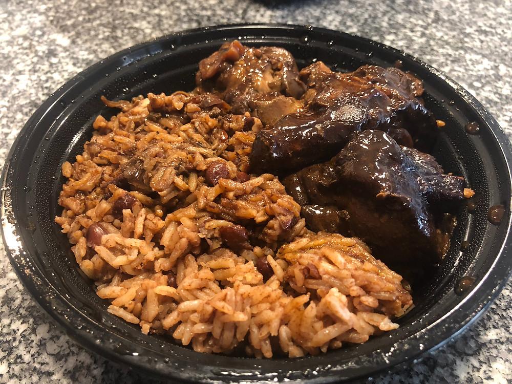 Brown Stew Chicken meal from Little Ochie