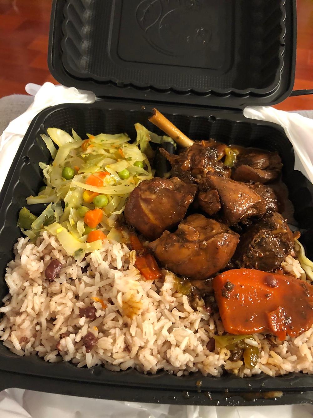Brown Stew Chicken from Jerk House Caribbean Restaurant