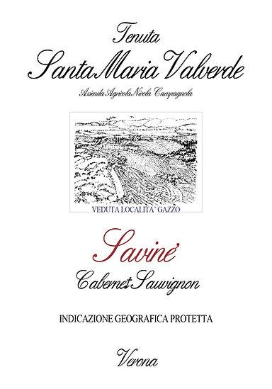 Label Savine Tenuta Santa Maria Valverde