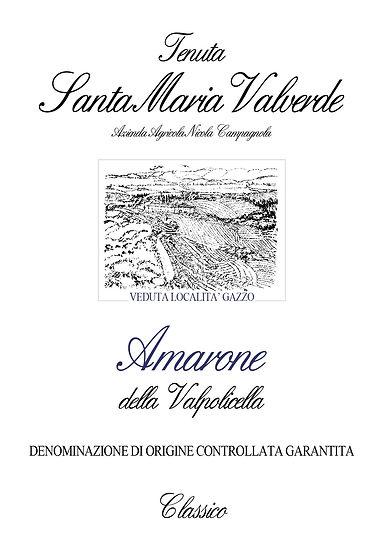 Label Amarone Tenuta Santa Maria Valverde
