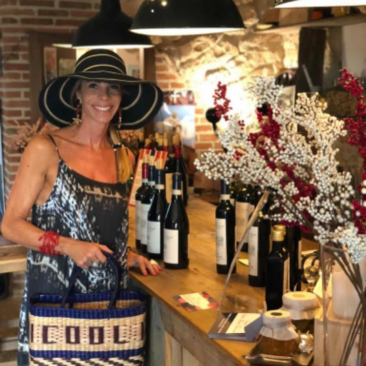 Fashion woman at the winery