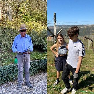 Renzo Campagnola e i nipoti