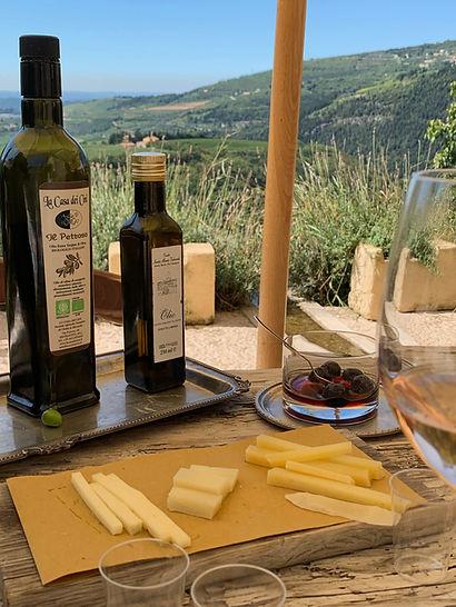 Degustazione di olio di oliva