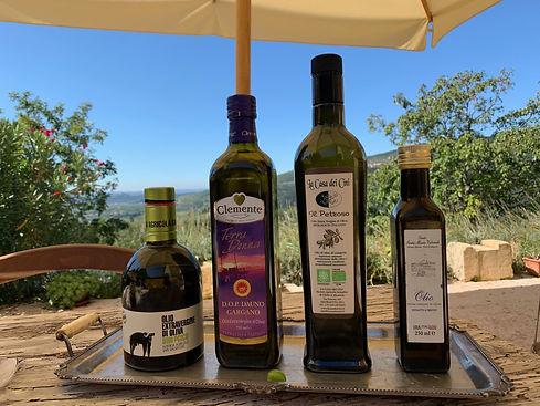 Comparazione olio di oliva