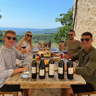 Bachelor party in the vineyards