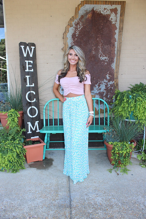 Good Friday Floral Pleated Maxi Skirt