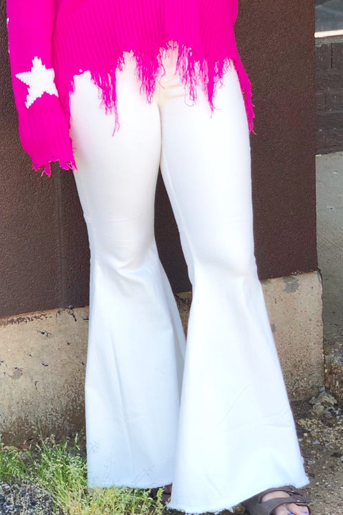 Fit and Flare Bell Bottoms: Pearl