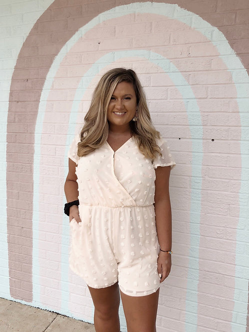 Pacify Her Romper: Nude