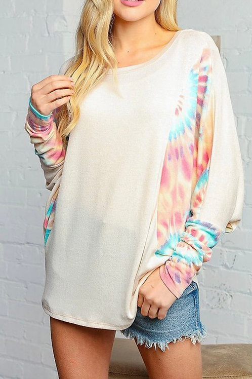 Find Your Peace Curvy Tie Dye Top
