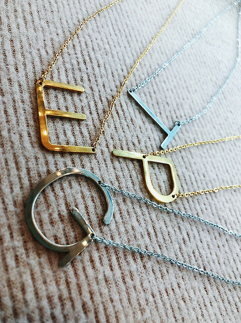 Initial Necklace: Gold or Silver