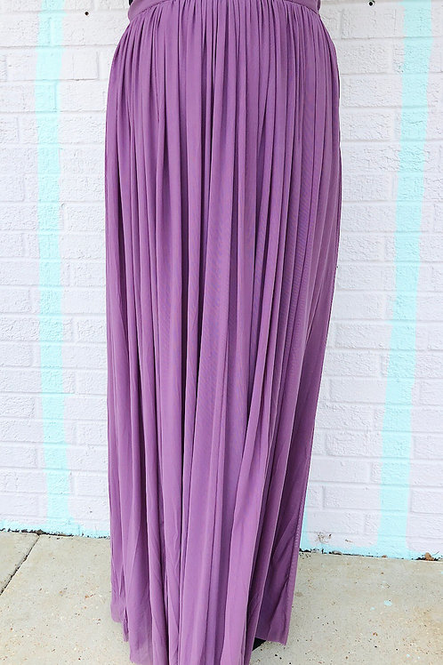Rags to Riches Floor Length Skirt