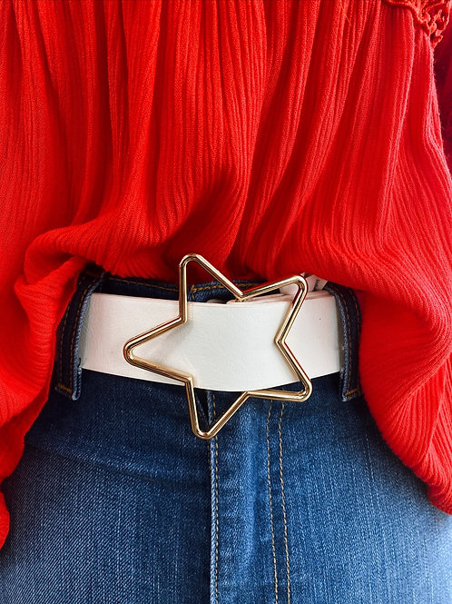 Out of this World Star Belt: White