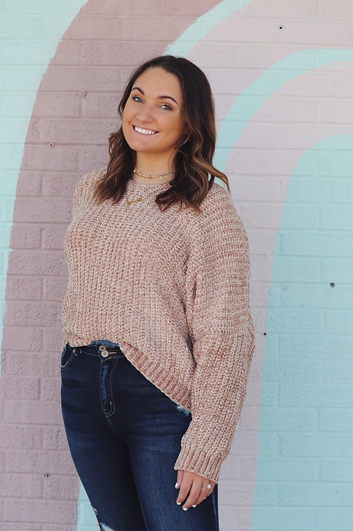 Coffee and Cuddles Sweater: Taupe