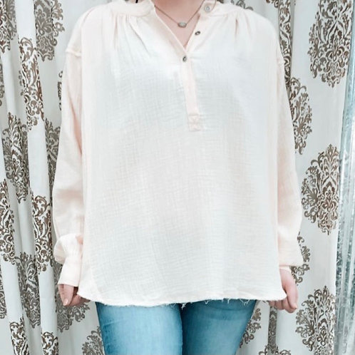 Amazing Grace Linen Blouse