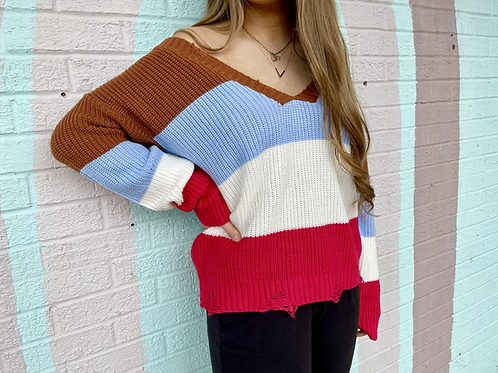 Make it Last Color-Block Sweater