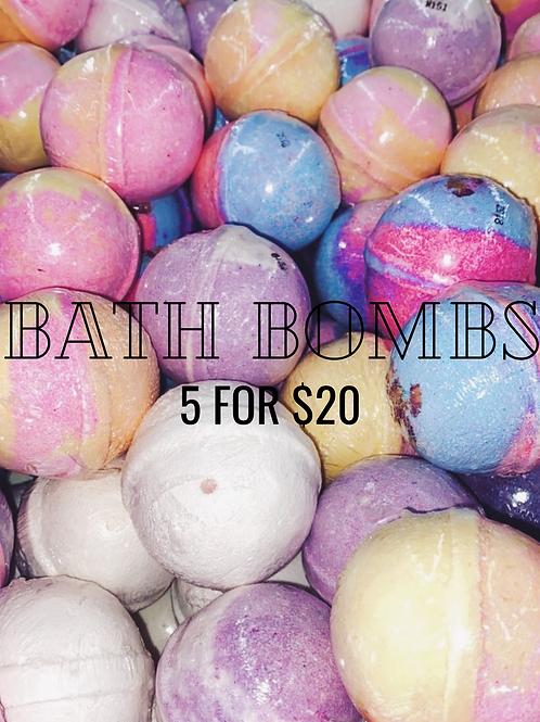 Bath Bombs 5/$20