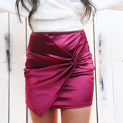 My Resolution Satin Mini Skirt