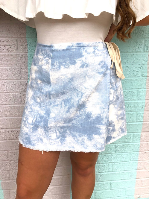 Seaside Skies Wrap Skirt: Sky Blue