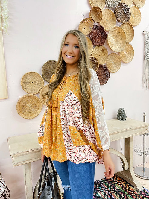 Golden Hour Floral Blouse