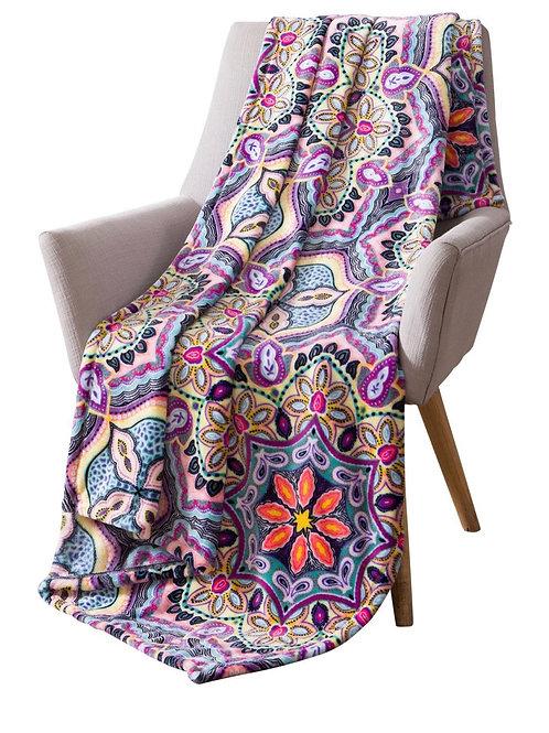 Velvet Paisley Blanket