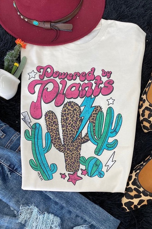 Powered by Plants Graphic Tee: Cream