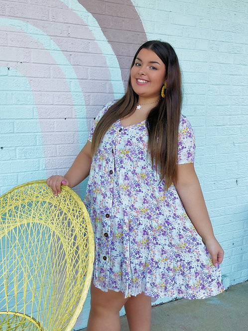 May Flowers Floral Babydoll Dress