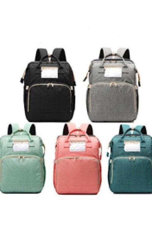 Expandable Diaper Bag: Green