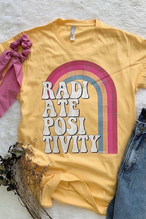 Radiate Positivity Graphic Tee: Yellow