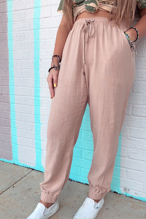 Unapologetic Linen Joggers