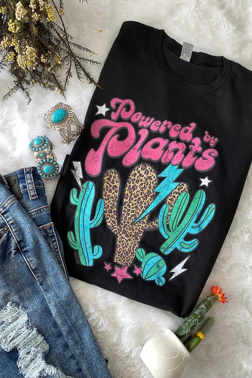 Powered by Plants Graphic Tee: Black