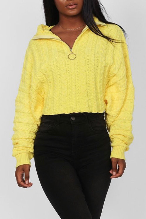 You are My Sunshine Chunky Cropped Sweater