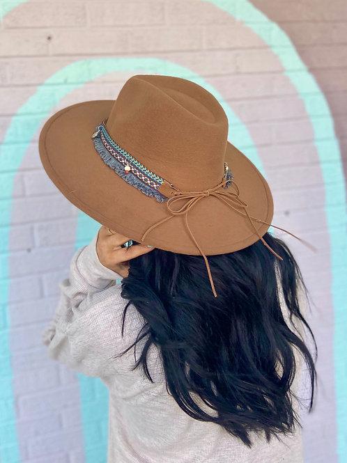 Leave Her Wild Boho Wide Brim Hat: Dark Brown