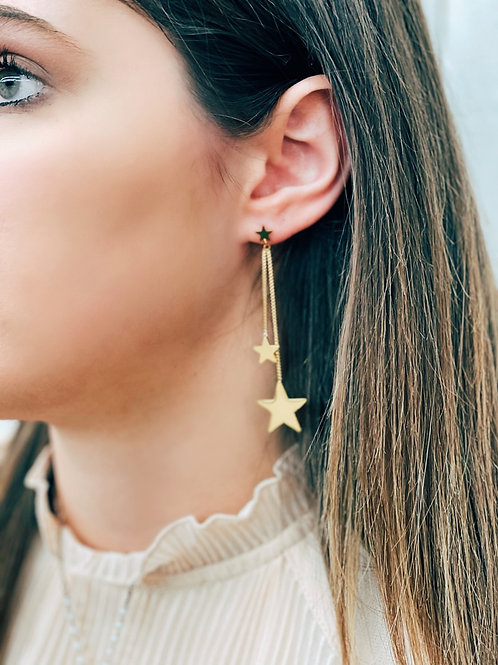 Mia Tiered Earrings: Gold