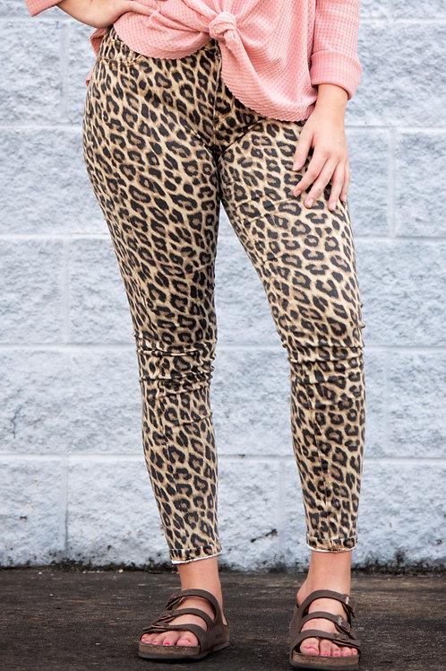 Spot On Leopard Skinny Jeans