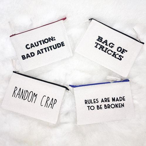 Canvas Makeup Bag