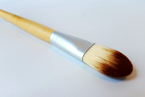 Vegan Foundation Brush with Bamboo for Flawless