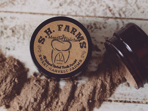Menthe Fraîche Organic Tooth Powder Fluoride FREE