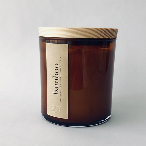 bamboo scented luxury soy candle