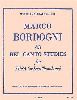 43 Bel Canto Studies ( Tuba/Bass Trombone ) - Marco Bordogni