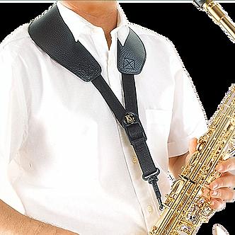 BG France Draagriem Saxofoon Alto/Tenor Leer Yoke S72-SH Kunststof Snaphook