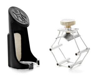 Francois Louis Ligatuur Saxofoon Bariton L Ultimate Silver