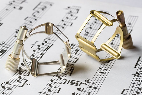 Francois Louis Ligatuur Saxofoon Tenor XL Basic Silver