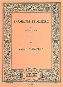 Sarabande et Allegro for Oboe and Piano - Gabriel Grovlez