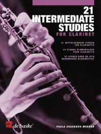 21 Intermediate Studies for Clarinet - Paula Crasborn-Mooren