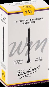 Vandoren Rieten Bes/A Klarinet WHITE MASTER Traditional